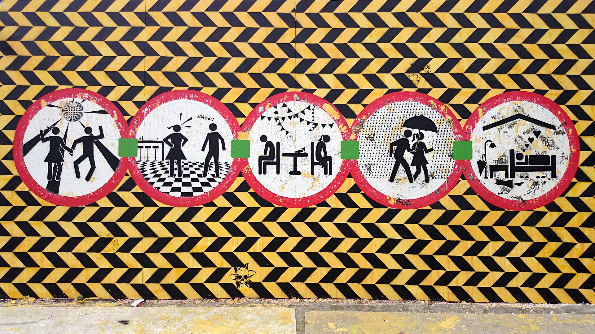 Ensenales deuniti mural arte cali 12 de niti colectivo for Arte colectivo mural